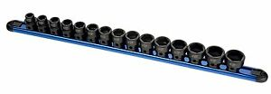 Sunex 15pc Metric 1 2 Dr Low Profile Stubby Impact Socket Set W Hex Base 2673