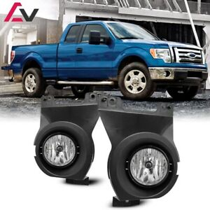 11 14 For Ford F 150 Clear Lens Pair Bumper Fog Light Lamp Oe Replacement Dot