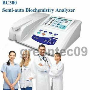 Contec Bc300 Semi auto Biochemistry Analyzer With Open Reagent lcd Touch Screen