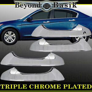 2008 2012 Honda Accord 4dr Sedan Chrome Door Handle Covers Overlays Trims