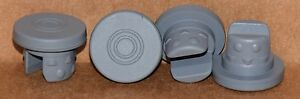 20mm Gray Butyl Serum Vial Stoppers 2 Leg Nubbed Qty 50