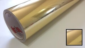 1 Roll 24 X 10yd Gloss Gold Chrome Oracal 352 Vinyl Sign Making Craft