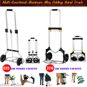 Multi functional Folding Aluminum Hand Truck Trolley Dolly Cart Travel Shopping