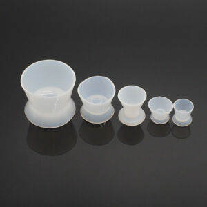 High Quality 5sets 25pcs Silicone Mixing Bowl Cup For Dental Lab