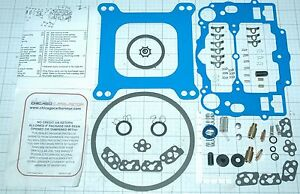 No Stick Blue Edelbrock Rebuild Kit Steel Pump 1403 1405 1406 1407 Like Edl 1477
