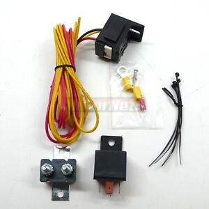 Electric Fuel Pump Relay Kit 30 Amps 12 volts W Mounting Hardware Hot Rod