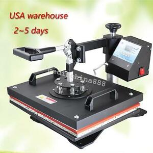 Heat Press Machine Digital T shirt Mug Hat Plate Transfer Sublimation Dhl Fast