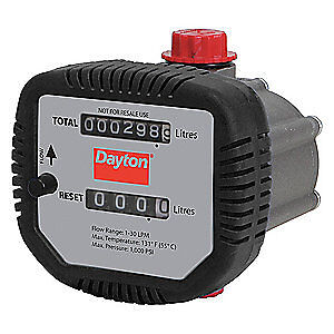 Dayton Flowmeter mechanical 1 2 fnpt 1000 Psi 32zn67