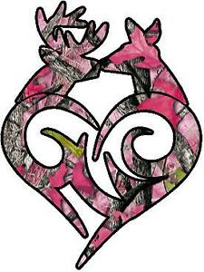 Browning Buck Doe Aged Pink Camo Vinyl Sticker Decal