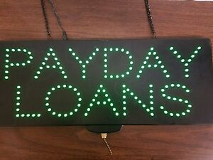 Neon Payday Loan Lighted Sign