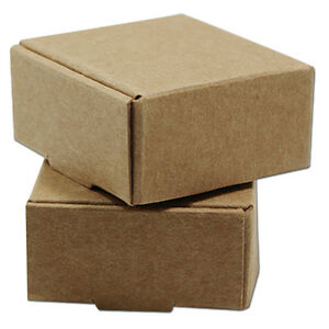 Brown Kraft Paper Small Gift Pack Box Wedding Party Favor Jewelry Packing Boxes