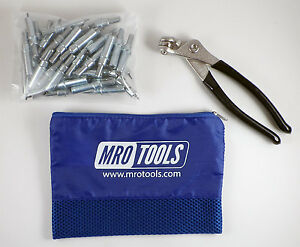 50 3 32 Cleco Sheet Metal Fasteners Plus Cleco Pliers W Carry Bag k1s50 3 32