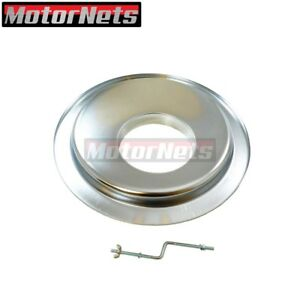 14 Chrome Air Cleaner Offset Hei Base Chevy Ford Sbc Bbc Holley Edelbrock 350