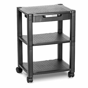 Rolling Printer Cart Machine Stand Drawer Storage Home Office Schools Clinics