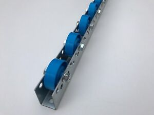 Roller Track Flow Rail Roller Gravity Conveyor With Plastic Rollers Dia 48 Mm