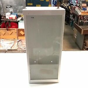 Modern Metal Products Metal Fire Extinguisher Cabinet Lockable Glass Front