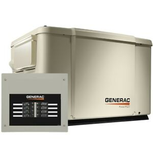 Generac 6998 Powerpact Series 7 5kw Generator Steel Enclosure 8 Circuit Switch