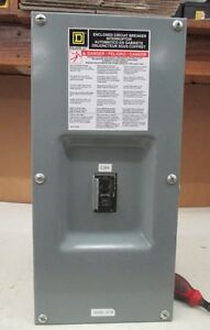 Square D 100amp Circuit Breaker Iec60947 2 With Enclosure Box
