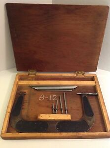 Vintage Brown Sharpe 8 12 Micrometer