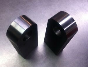 Pair Of Thru Bumper Weld On Recovery Shackle Mounts Use With 3 4 Bow Shackles