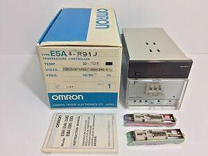 New Omron Temperature Controller E5a4 r91j 110 120 220 240 Vac 50 60 Hz