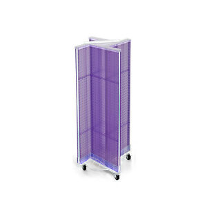 New Purple Neon Plastic Pegboard Pinwheel Display Unit 13 5 W X 44 H