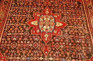 C1920s Antique Ultra Rare Camel Hairwool Border Prsian Bijar Rug 4 10x6 11