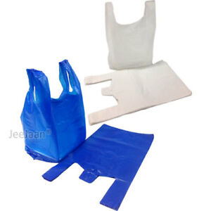 Plastic Carrier Bags Strong Vest Shopping Supermarket Shop Takeaway all Sizes