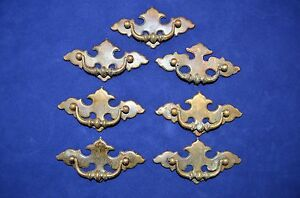 7 Vintage Chippendale Batwing Brass Drawer Pulls Bail Handle 2 1 2 Center Bore