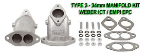 New Vw Type 3 Weber Ict Empi Epc Dual Port Intake Manifolds