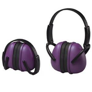 6 Purple Ear Muffs Hearing Protection Folding Adjustable Work hunting shooting