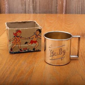 Vintage 1881 Rogers Silver Plate Baby Cup With Original Box
