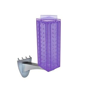 New Purple Pegboard Extension Display With Metal Extension Rod 4 w X 4 d X 12 h