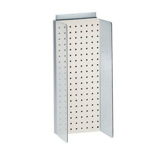 New Retails White Pegboard Powerwing Display 8 w X 20 625 high