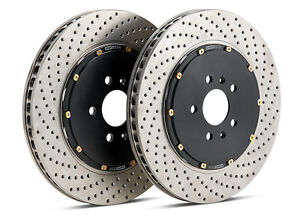 Stoptech 2016 2017 Ford Focus Rs 2 3l Front 2 piece Drilled Aero Brake Rotors