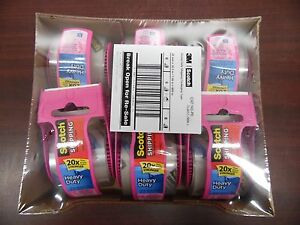 6 pack 3m Scotch 142 pc Heavy Duty Shipping Packaging Tape 1 88 X 800 11d