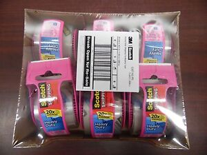 6 pack 3m Scotch 142 pc Heavy Duty Shipping Packaging Tape 11d