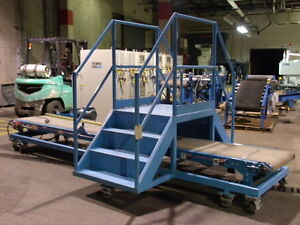 Hytrol Belt Conveyor 14 5 X 2 With Catwalk On Casters