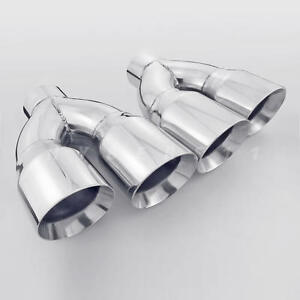 Pair 3 Inlet Quad Staggered 4 Inch Out Exhaust Tips For Firebird Camaro Ls1 Ss