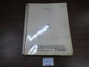 B103 Lees Bradner Gear Hob Hobbing Machine Operation Service Manual Schematics 7