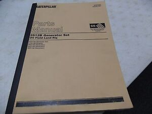Caterpillar 3512b Generator Set Oil Field Land Rig Ptf1 up Parts Manual
