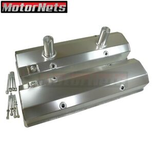 Small Block Chevy Anodized Fabricated Aluminum Circle Track Valve Cover 305 350