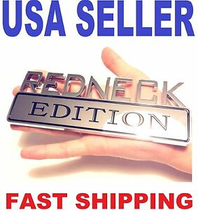 Redneck Edition Car Molding Truck Emblem Logo Decal Sign Chrome Badge Ornament