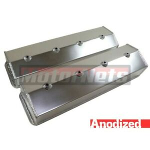 Sbc Fabricate Anodized Aluminum Tall Valve Cover Center Bolt Vortec Without Hole