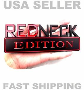 Redneck Edition Car Truck Auburn Emblem Logo Cleveland Decal Ornament Sign Black
