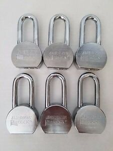 6 New Keyed alike American Lock A701 High Security Hardened Steel Alloy Padlock