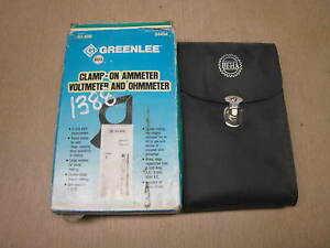New Greenlee Beha Model 93 800 Dig Clamp Meter Free Shipping