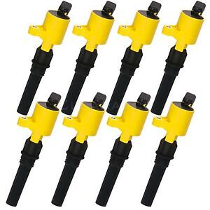 8pack Yellow Ignition Coil Dg508 Dg 508 For Ford Crown Victoria 4 6l V8 98 2011