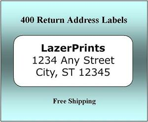 400 Return Address Labels 1 2 X 1 75 Inch White Labels Easy Peel Stick