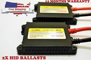 2 Replacement Hid Xenon Conversion Slim Ballast 35w Fits Universal All Bulbs